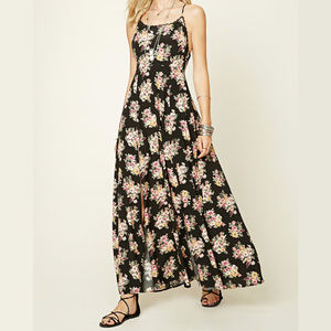New With Tag Floral Print M-Slit Maxi Dress